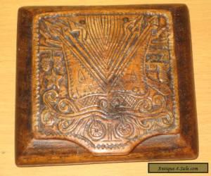 Vintage Hinged Hand Carved  wooden trinket box for Sale
