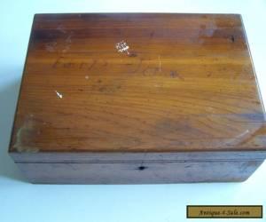 Vintage Wooden Box. Antique Woodenware.  for Sale