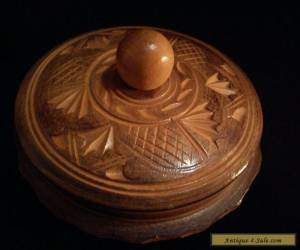 Hand Decorated Vintage Wooden Box for Sale