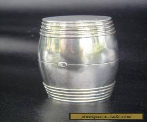 Antique Sterling Silver, Coin Barrel for Sale