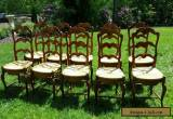 Set of Ten French Country Dining Chairs for Sale