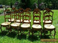 Set of Ten French Country Dining Chairs