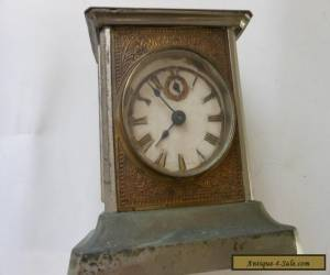 Vintage Carriage Clock Music Box Alarm German 1900 s  for Sale