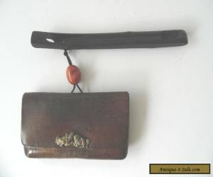 Antique Japanese Tobacco Pouch & Pipe case for Sale