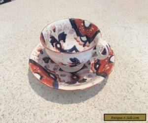 Cup and saucer. Welsh by Gaudy. C 1850 for Sale