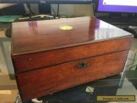 STUNNING Vintage Antique 1800's Writing Stationary Wooden Box
