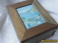 Unusual Vintage  Handpainted Wooden Box . Art Deco