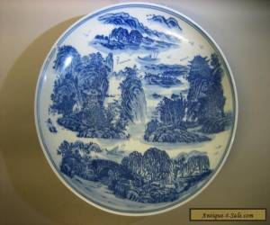 Huge Chinese antique year of Ming Wanli blue and white porcelain bowl / plate for Sale