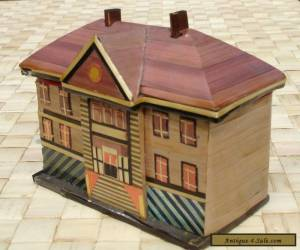 Vintage Straw Trinket Box Hand Crafted Victorian Mansion for Sale