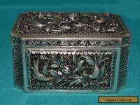 RARE ANTIQUE CHINESE SOLID SILVER BOX FANTASTIC CONDITION BEAUTIFUL