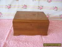 "ANTIQUE/VINTAGE  WOODEN BOX 8"" X 4.4"" WITH BUTTERFLY DETAIL TO LID"
