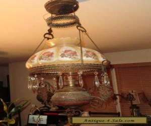 Antique Oil Lamp Chandelier for Sale