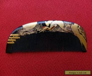 Excellent Vintage Japanese Lacquerware Hair Comb MAKIE (8) for Sale