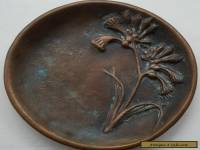 Bronze / Brass Pin - Coin Dish - Wildflowers - Australian ?