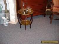 Brass Wood Tray Martini Table Vintage Mid Century Modern Folding