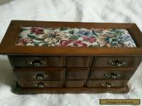 Antique wooden jewellery box