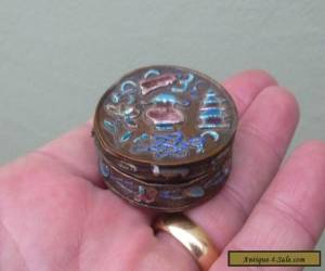 An Antique Chinese Enamel Pill Box 19th Century for Sale