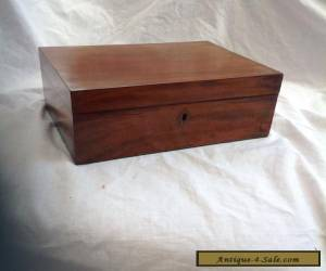 Handsome Victorian Mahogany Jewellery/Sewing Box With Fitted Tray for Sale