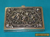 RARE ANTIQUE CHINESE SOLID SILVER CARD HOLDER