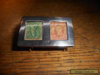 Antique Sterling Silver Stamp Box (1897)