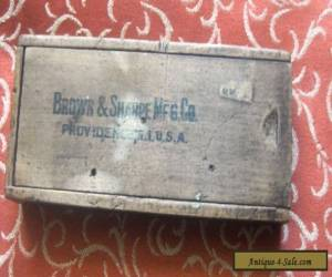 Antique/ Vintage Advertising Wooden Pencil Box.Brown & Sharpe MFG Co, for Sale
