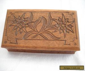vintage wooden jewellery box for Sale