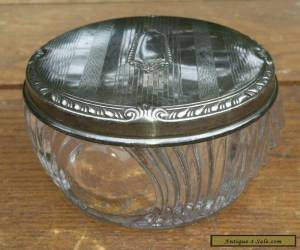 ANTIQUE STERLING SILVER DRESSER JAR S&B for Sale