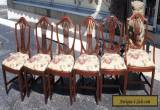 6 Vintage Hepplewhite Style Mahogany Carved Shield Back Dining chairs Mid Cent for Sale