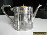 Antique 1903 Ornate Silver Teapot