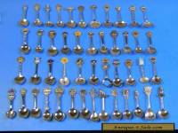 Lot of 47 Souvenir Spoons in Very Good Condition