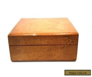 VINTAGE SMALL PLAIN WOODEN CIGARETTE CIGAR CARD BOX SPLINE JOINED CORNERS for Sale