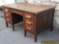 Stunning large antique oak desk