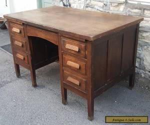 Stunning large antique oak desk for Sale