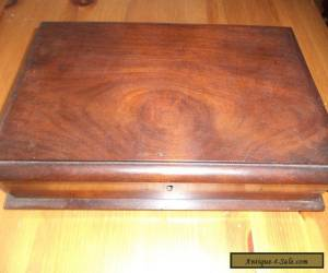 antique wooden box dovetail joints for Sale
