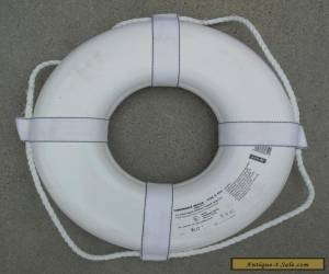 """Jim-Bouy 19"""" US Coast Guard Approved Life Ring Preserver - White for Sale"""