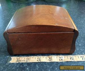 Old wooden box antique/vintage with two Mackenzie smelling salts bottles etc for Sale