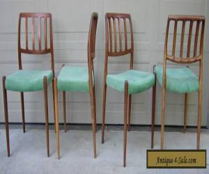 Set 4 Niels Moller rosewood dining chairs model # 83 Danish Modern mid century for Sale