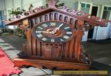 Rare Antique Black Forest Trumpeter Clock for Sale