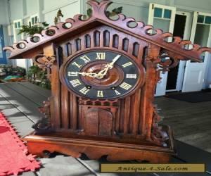 Rare Antique Black Forest Trumpeter Clock for Sale