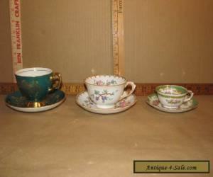 3 Vintage Teacups & Saucers Tuscan for Sale