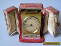 EXCELLENT SMALL CASED ANTIQUE Art Deco ALARM CLOCK 1920