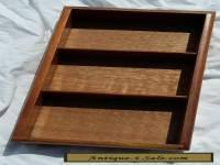 Vintage wooden mens drawer organiser sorter hankerchiefs cufflinks ties