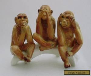 Monkeys Group Decoration Porcelain Figurine Ens German  for Sale