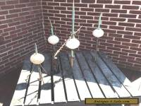 Architectural salvage: 4 vintage lightning rods with bulbs