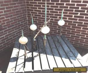 Architectural salvage: 4 vintage lightning rods with bulbs for Sale