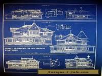 """Vintage House Ocean Front Sea Cottage 1881 Blueprint 24"""" x 32""""   (058)"""
