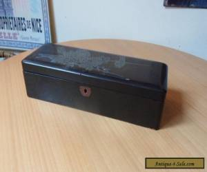 VINTAGE WOODEN BOX-HINGED LID WITH BIRD/FLORAL PATTERN-LENGTH 30.4cm for Sale