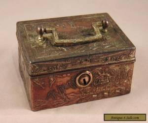 Small Japanese Antique Silver Plate on Copper Trinket Box for Sale