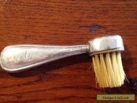 Vintage solid sterling silver moustache brush