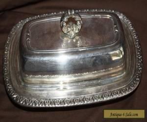 Oneida Ltd. Silverplate Butter Dish  for Sale